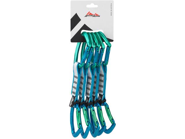 AustriAlpin Eleven Set moschettoni 11cm 5 pezzi, green-blue